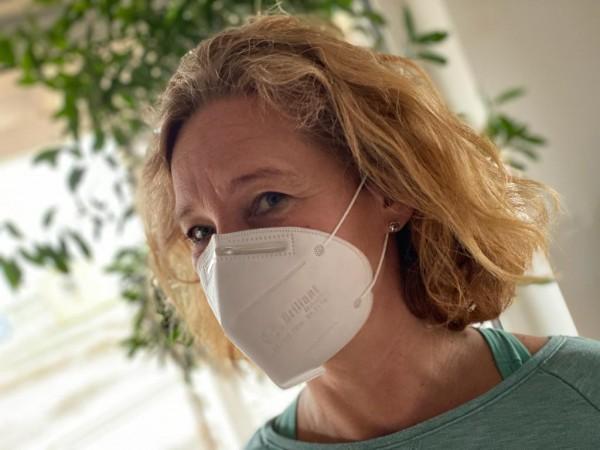 2er Pack - KN95 - FFP2 Masken antibakteriell - FDA und CE zertifiziert