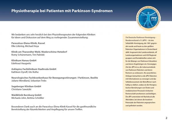 Physiotherapie bei Patienten mit Parkinson Syndrom