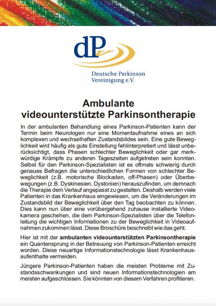 """Ratgeber """"Ambulante videounterstützte Parkinsontherapie"""""""